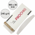 Набор сменных файлов для пилки Полумесяц 180 мм, 240 грит, Белые