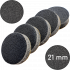 """Сменные бафы для подо-диска """"Черные"""", 320 грит, 21 мм, Черные"""