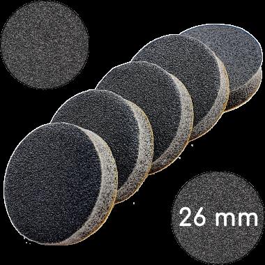 """Сменные бафы для подо-диска """"Черные"""", 100 грит, 26 мм, Черные"""