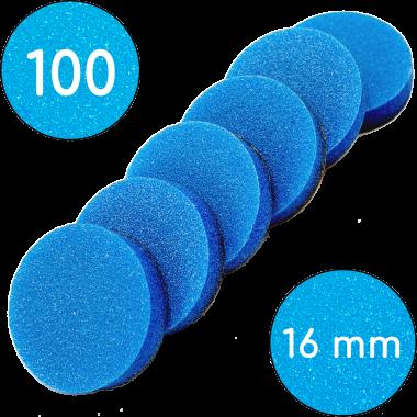 Сменные бафы для смарт-диска, 100 грит, 16 мм, Синие