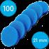 Сменные бафы для смарт-диска, 100 грит, 21 мм, Синие