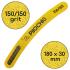 Пилочка для маникюра, 150/150 грит, Банан 180 мм, Желтая