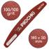 Пилочка для маникюра, 100/100 грит, Полумесяц 180 мм, Бордовая