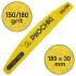 Пилочка для маникюра, 150/180 грит, Полумесяц 180 мм, Желтая
