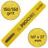 Пилочка для маникюра, 150/150 грит, Ровная 167 мм, Желтая