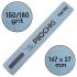 Пилочка для маникюра, 150/180 грит, Ровная 167 мм, Синяя