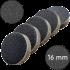 """Сменные бафы для подо-диска """"Черные"""", 16 мм"""