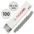 Бафы-шлифовщики для ногтей, 100 грит, Бейби 16 мм, Серые