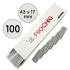 Бафы-шлифовщики для ногтей, 100 грит, Бейби 17 мм, Серые