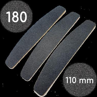 Сменные файлы для пилки, 180 грит, Полумесяц 110 мм, Черные