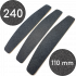Сменные файлы для пилки, 240 грит, Полумесяц 110 мм, Черные
