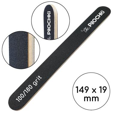 Одноразовая пилочка для ногтей двусторонняя, 100/180 грит — ThePilochki   фото 809